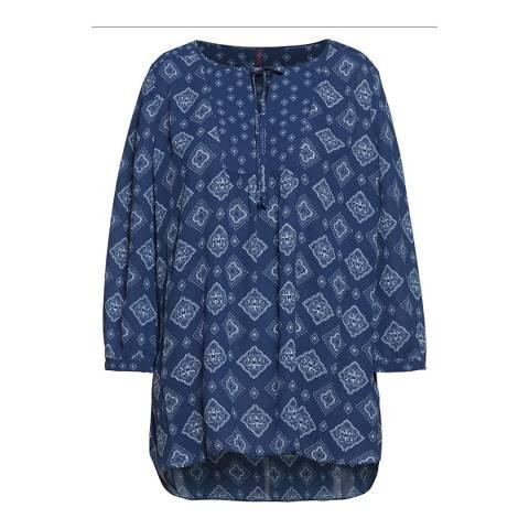 NYDJ Blue Mikumi Medley Blouse