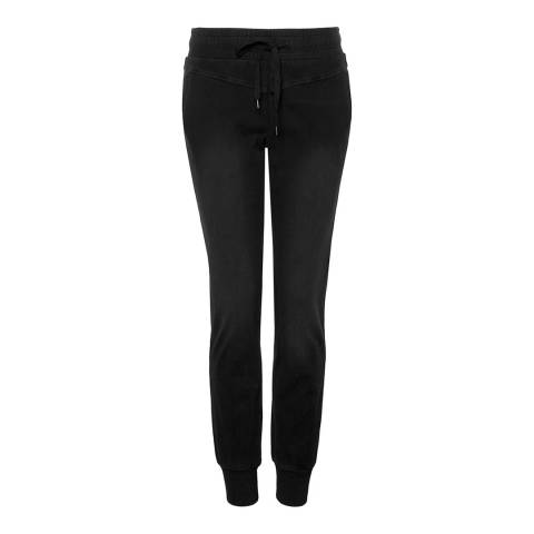 NYDJ Off Black Wash Banks Dark Slouch Cotton Stretch Joggers