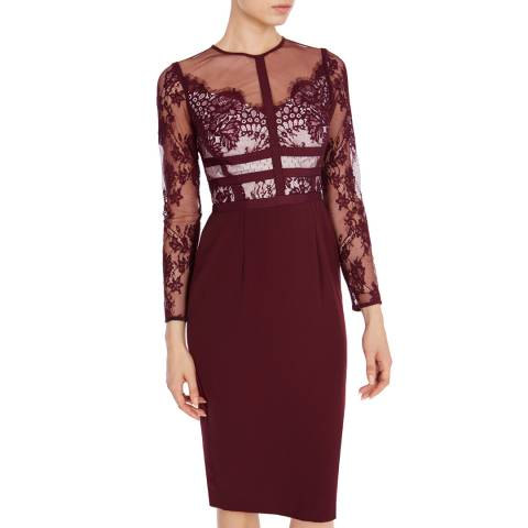 Coast Purple Malinda Lace Dress