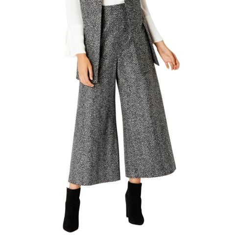 Coast Grey Likka Wide Leg Cropped Trousers