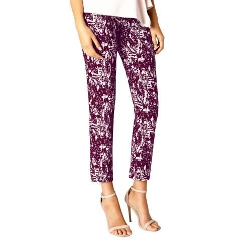 Coast Purple Sawyer Jacquard Trousers