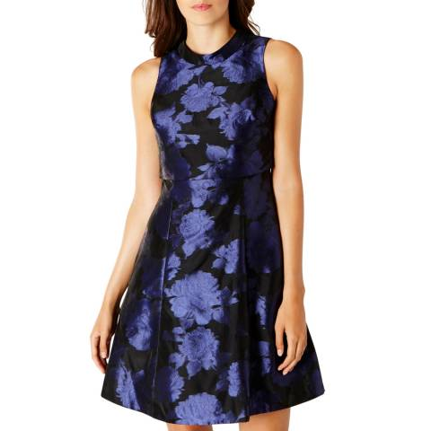 Coast Purple Numero Jacquard Dress