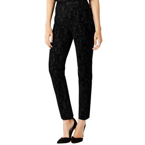 Coast Black Alberta Flocked Lace Trousers