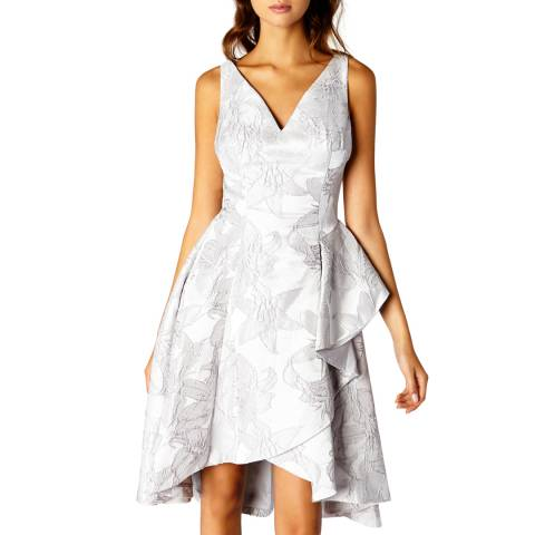 Coast Silver Reese Jacquard Dress