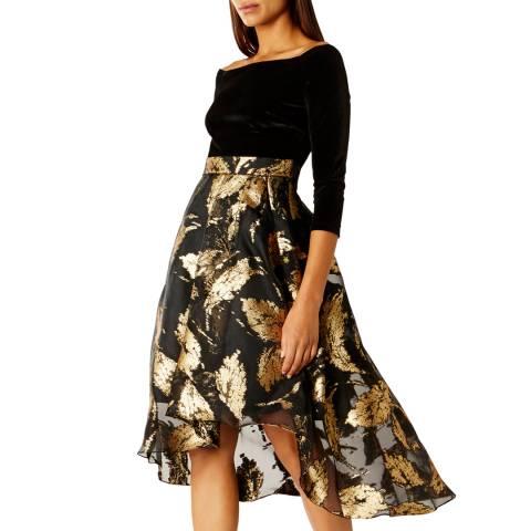 Coast Black Maneela Jacquard Dress