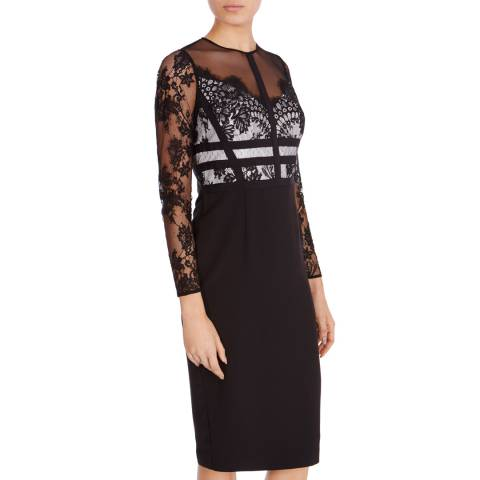 Coast Black Malinda Lace Shift Dress
