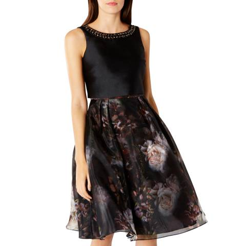 Coast Black Nuoro Print Lorray Dress