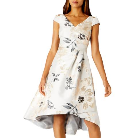 Coast Cream Almina Jacquard Dress