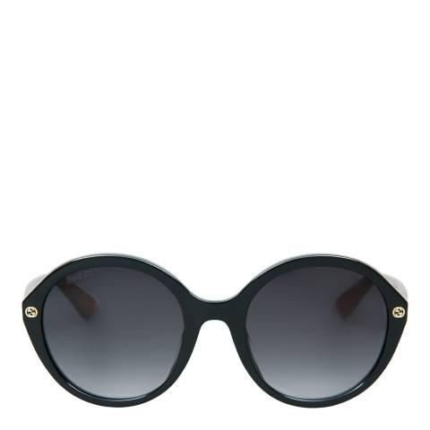Gucci Women's Black Havana Grey/Grey Sunglasses 55mm