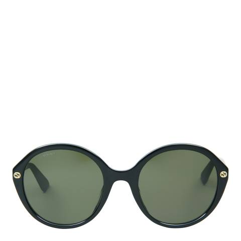 Gucci Women's Black/Green Sunglasses 55mm