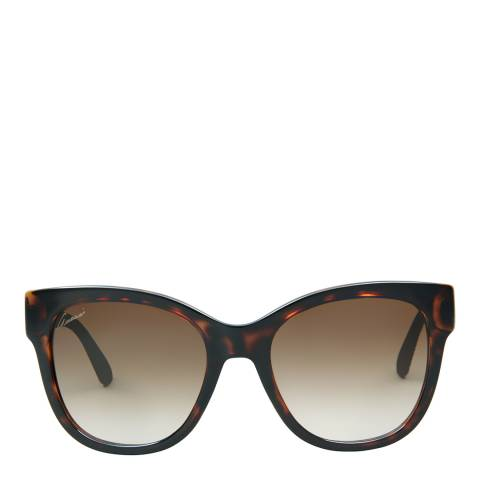 Gucci Women's Dark Havana Brown/Brown Gradient Sunglasses 54mm