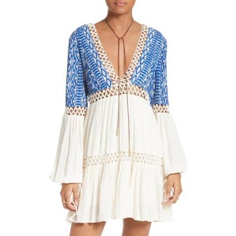 Free People Ivory Dusk Till Dawn Mini Dress
