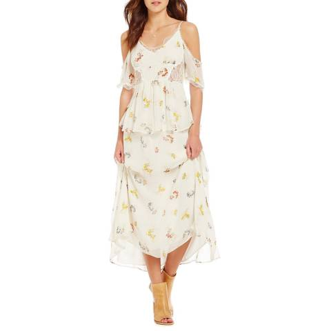 Free People Ivory Magnolia Cotton Maxi Dress