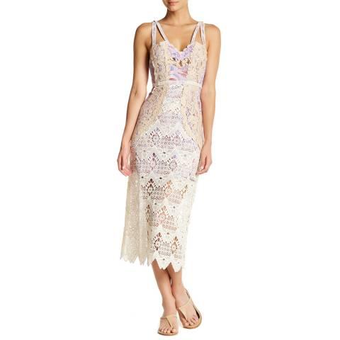 Free People Ivory Still Life Midi Dress