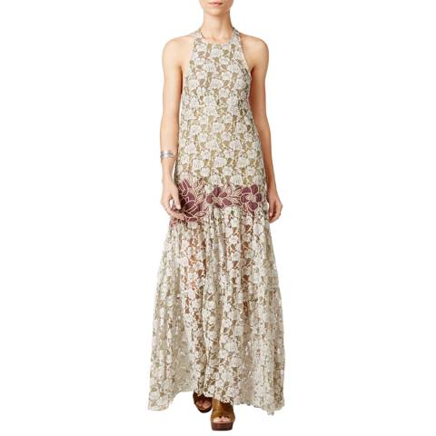 Free People Vintage Cream Murano Cotton Maxi Dress