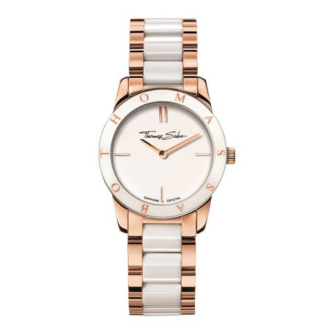 Thomas Sabo Women's Rose Gold/White Soul Watch