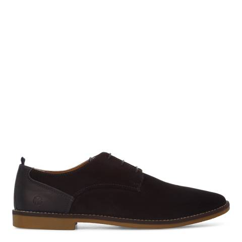 KG Kurt Geiger Navy Suede Kettering 3 Eye Derby Shoes