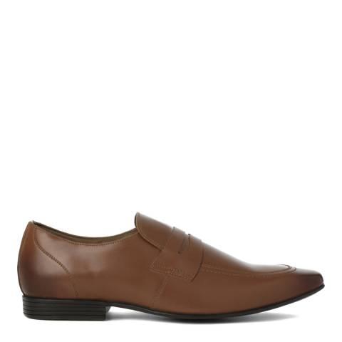 KG Kurt Geiger Tan Leather Kingsley Formal Loafers