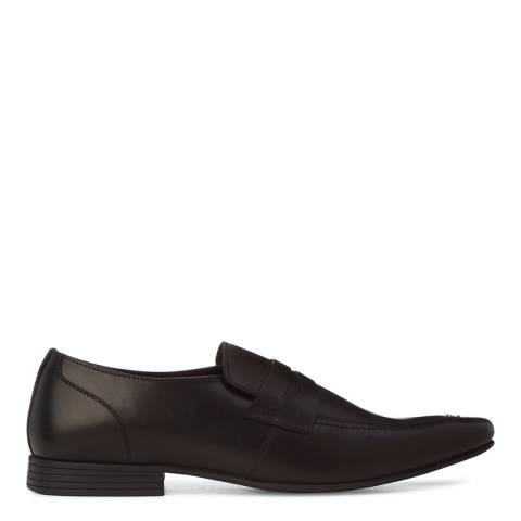 KG Kurt Geiger Black Leather Kingsley Formal Loafers