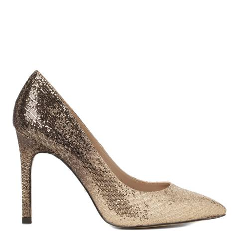 Carvela Kurt Geiger Gold Glitter Degrade Court Heels