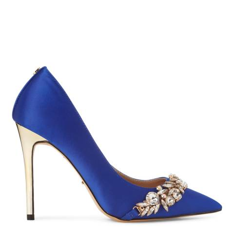 Carvela Kurt Geiger Blue Kracking Jewelled Electroplate Heels