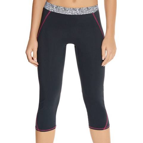 Freya Black Zinc Print Freedom Performance Capri Pant