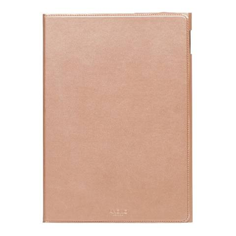 """Knomo Rose Pink Gold Full Leather 9.7"""" Wrap Ipad Pro Protector"""