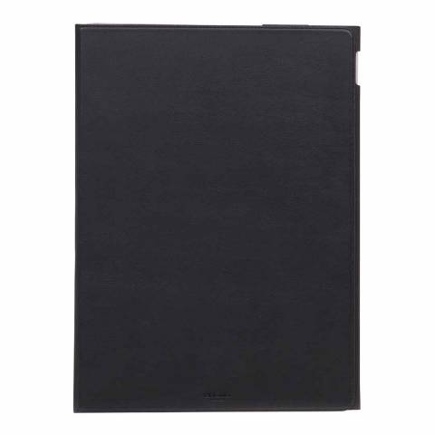 "Knomo Black Full Leather Wrap Ipad Pro 12.9"" Protector"