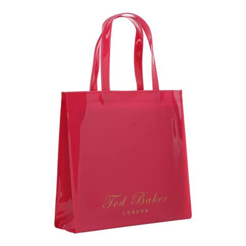 Ted Baker Womens Fuchsia Large Plain Icon Bag