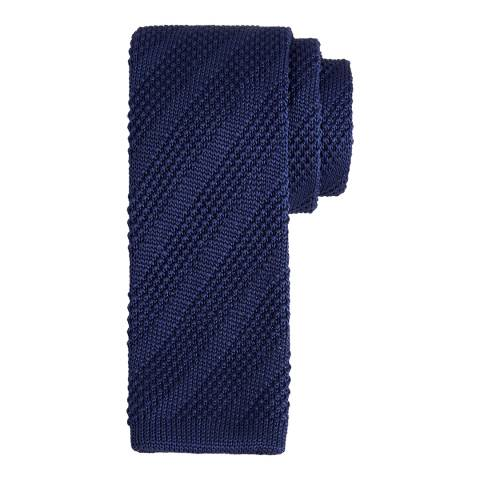 Ted Baker Men's Navy Nitted Knitted Tie