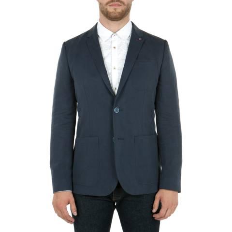 Ted Baker Blue Linen Tencel Blazer