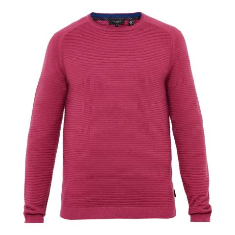 Ted Baker Burgundy Wool Blend Jumper