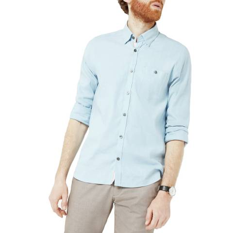 Ted Baker Pale Blue Linen Shirt