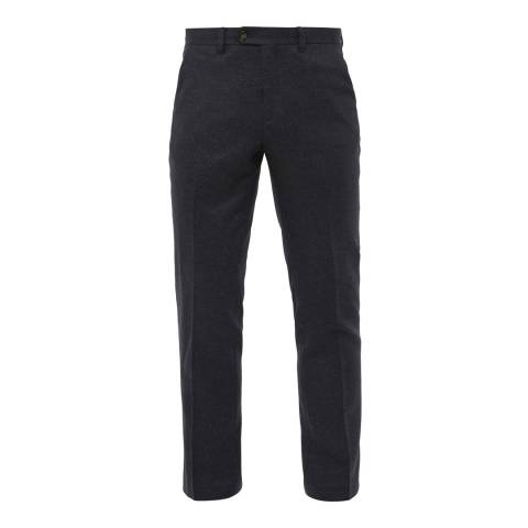 Ted Baker Navy Clootro Diamond Design Trousers