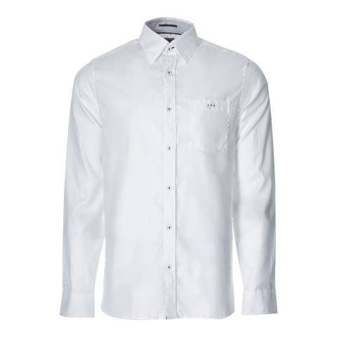 Ted Baker White Cotton Oxford Shirt