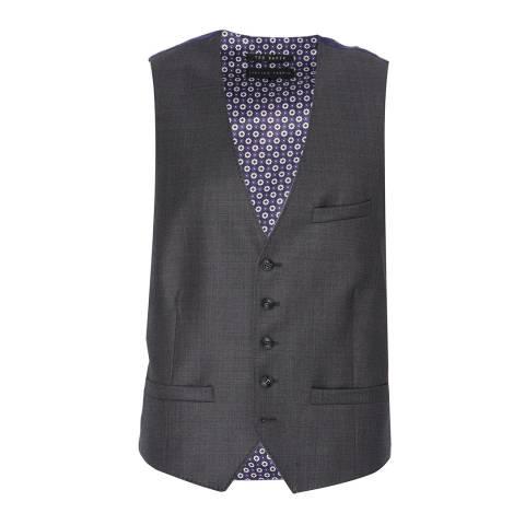 Ted Baker Grey Wool Waistcoat