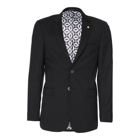 Ted Baker Black Decdent Debonair Plain Suit