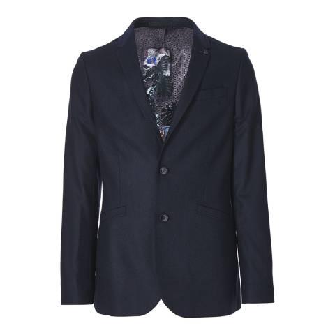 Ted Baker Navy Wool Blend Jacket