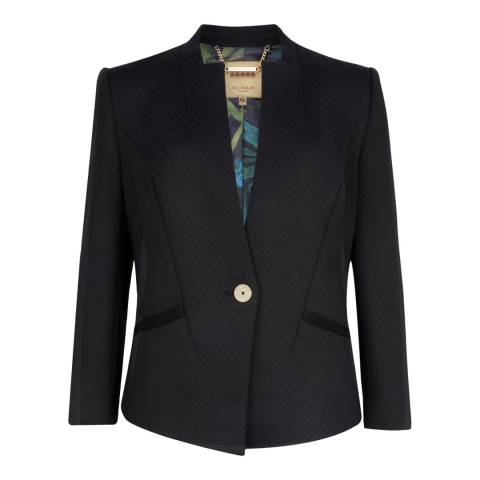 Ted Baker Black Neoprene Suit Jacket