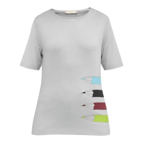 Ted Baker Grey Pencil Printed T-Shirt