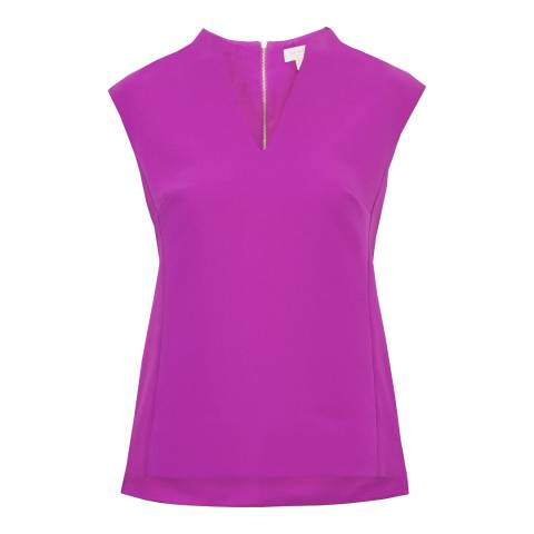 Ted Baker Bright Pink V-Neck Top