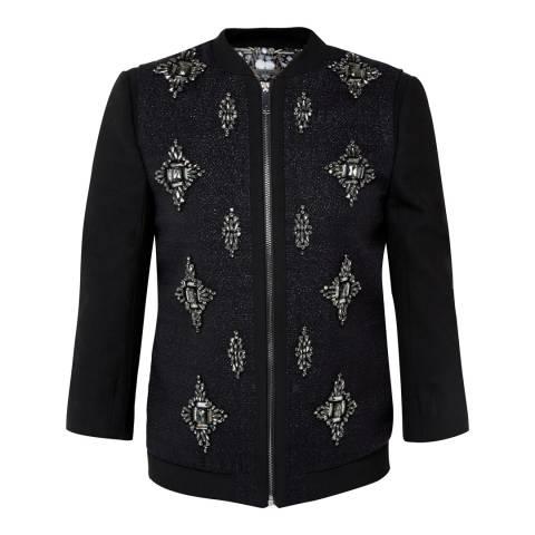 Ted Baker Black Embellished Bomber Jacket