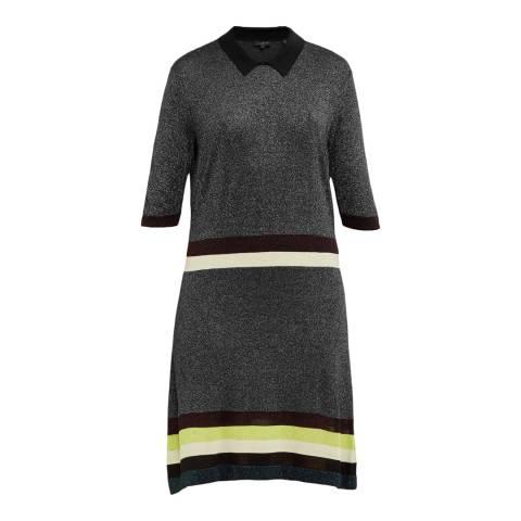 Ted Baker Black Lurex Stripe Dress