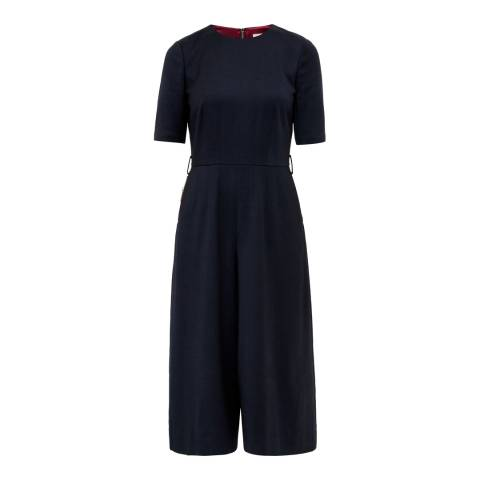 Ted Baker Navy Culottes Jumpsuit
