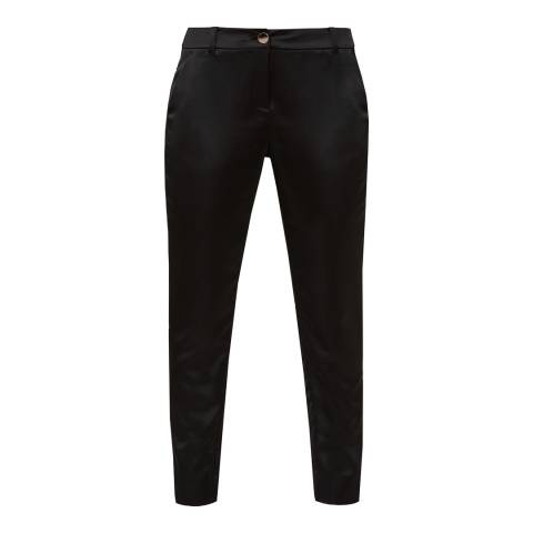Ted Baker Black Satin Tapered Trousers