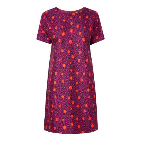 L K Bennett Purple/Multi Joenne T-Shirt Dress