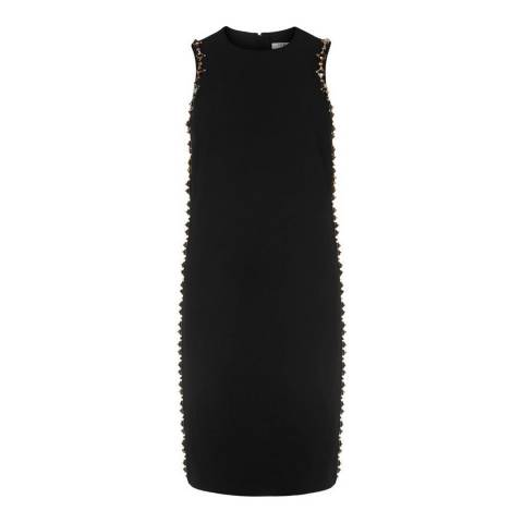L K Bennett Black Milau Embellished Dress