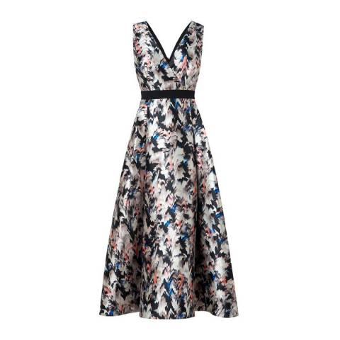 L K Bennett Multi Juana Wrap Dress