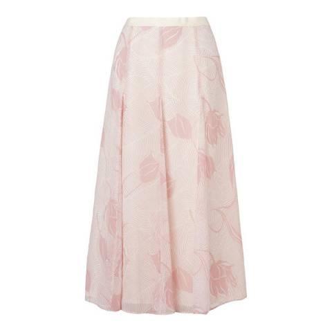 L K Bennett Pink Montez Fluid Midi Skirt
