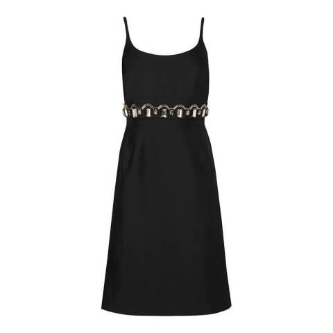 L K Bennett Black Odine Embellised Dress